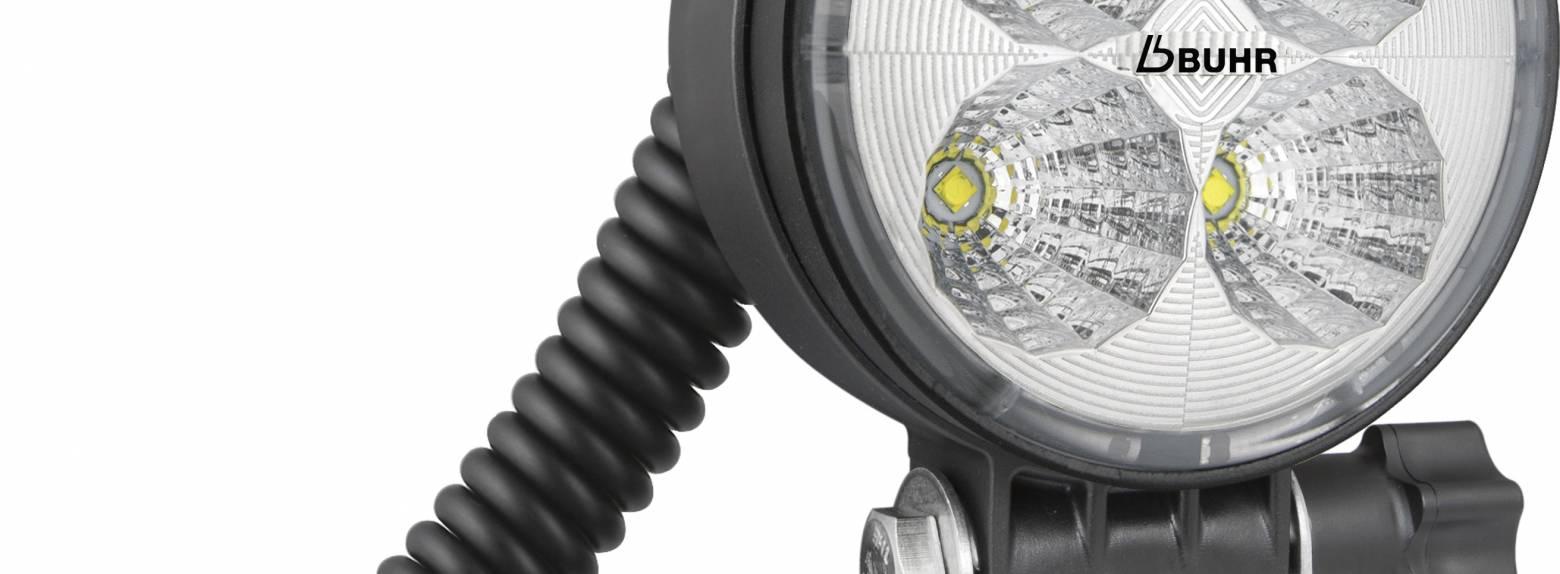 LED Arbeitsscheinwerfer 2000 lm Griff Spiralkabel 12V KFZ Magnet 100X100MM